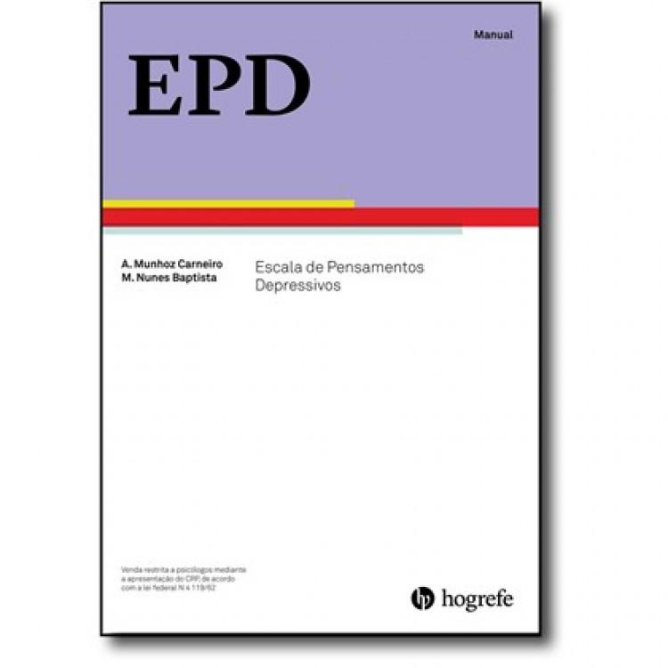 EPD - Escala de Pensamentos Depressivo - Kit