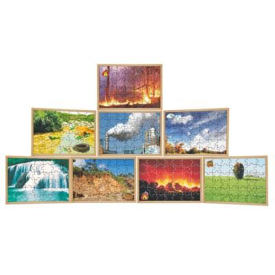 Quebra cabeca elementos da natureza kit 8 jogos